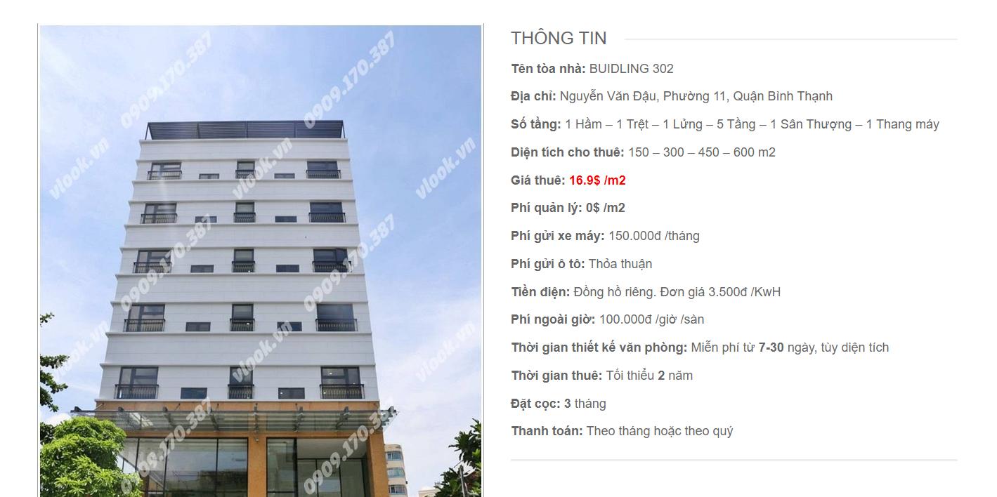 Danh sách công ty tại tòa nhà Building 302, Nguyễn Văn Đậu, Quận Bình Thạnh