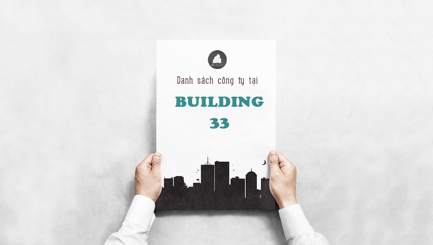 Danh sách công ty tại tòa nhà Biggroup Building 33 Lê Quốc Hưng, Quận 4