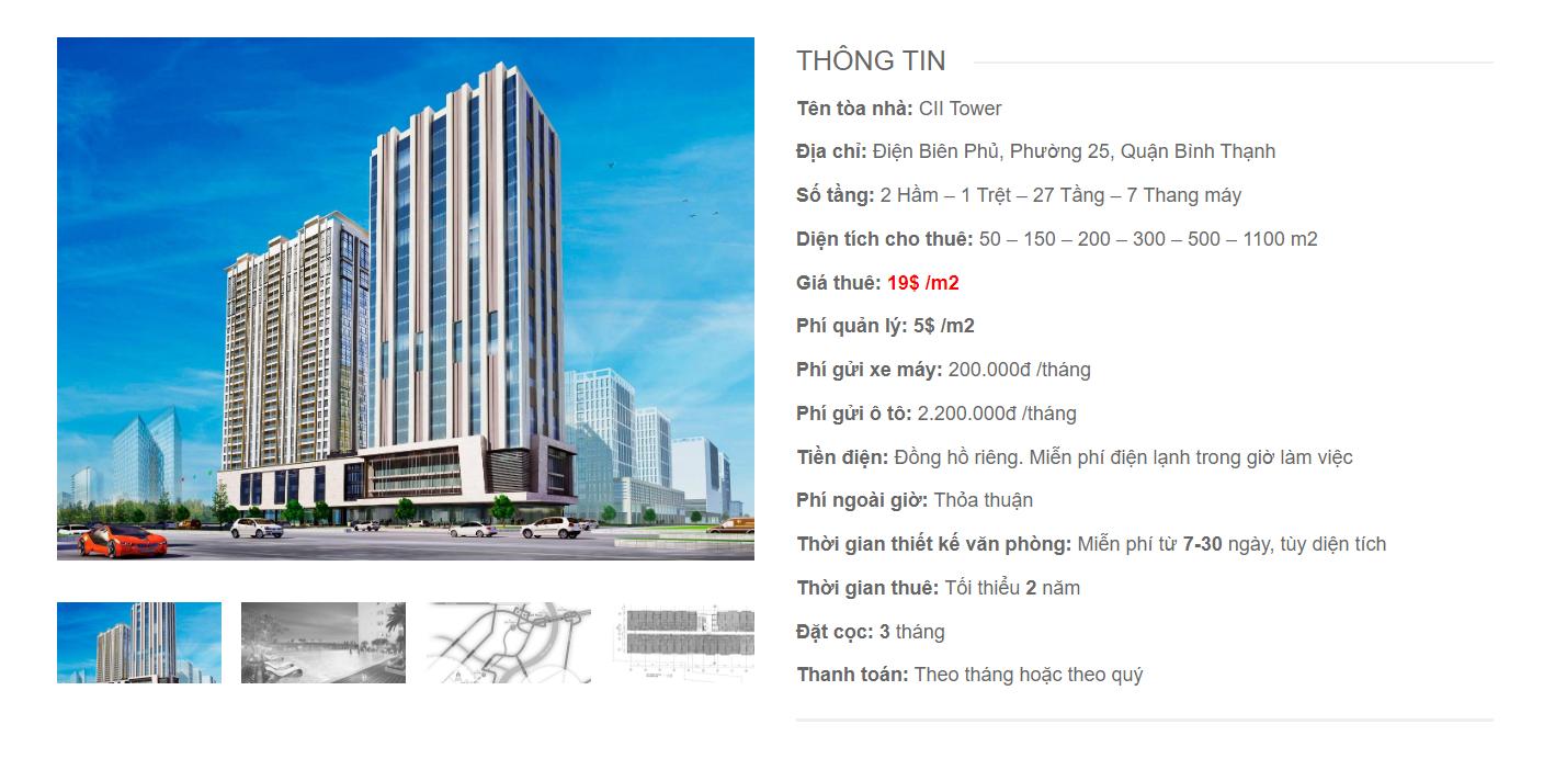 Danh sách công ty tại tòa nhà CII Tower, Điện Biên Phủ, Quận Bình Thạnh