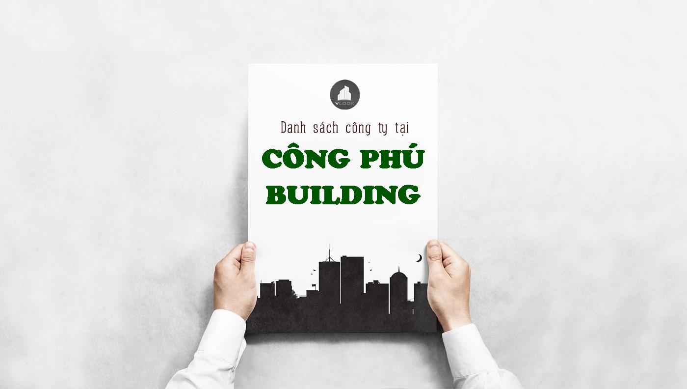 Danh sách công ty tại tòa nhà Công Phú Building, Nguyễn Văn Thương, Quận Bình Thạnh
