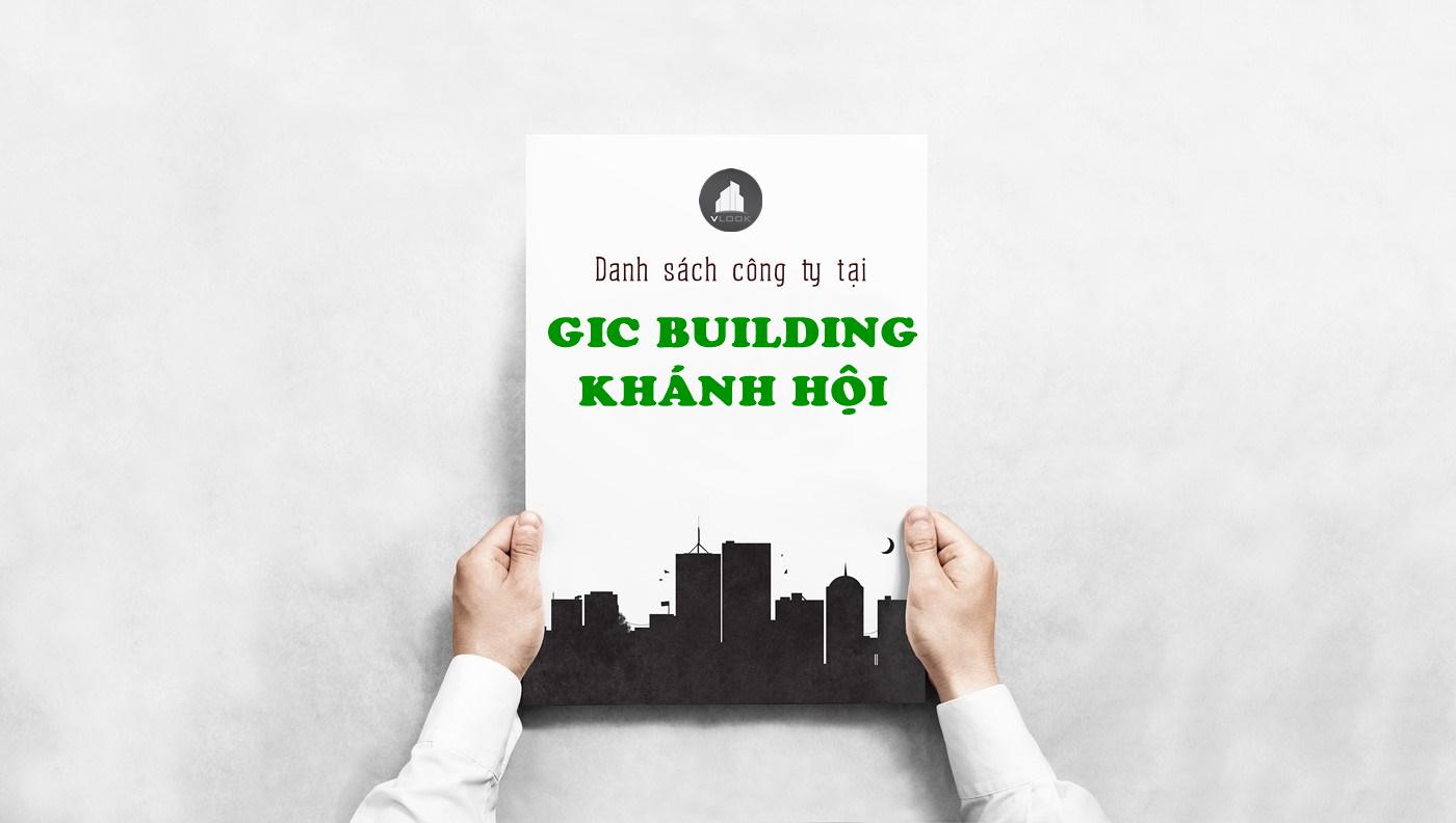 Danh sách công ty thuê văn phòng tại GIC Building Khánh Hội¸, Quận 4