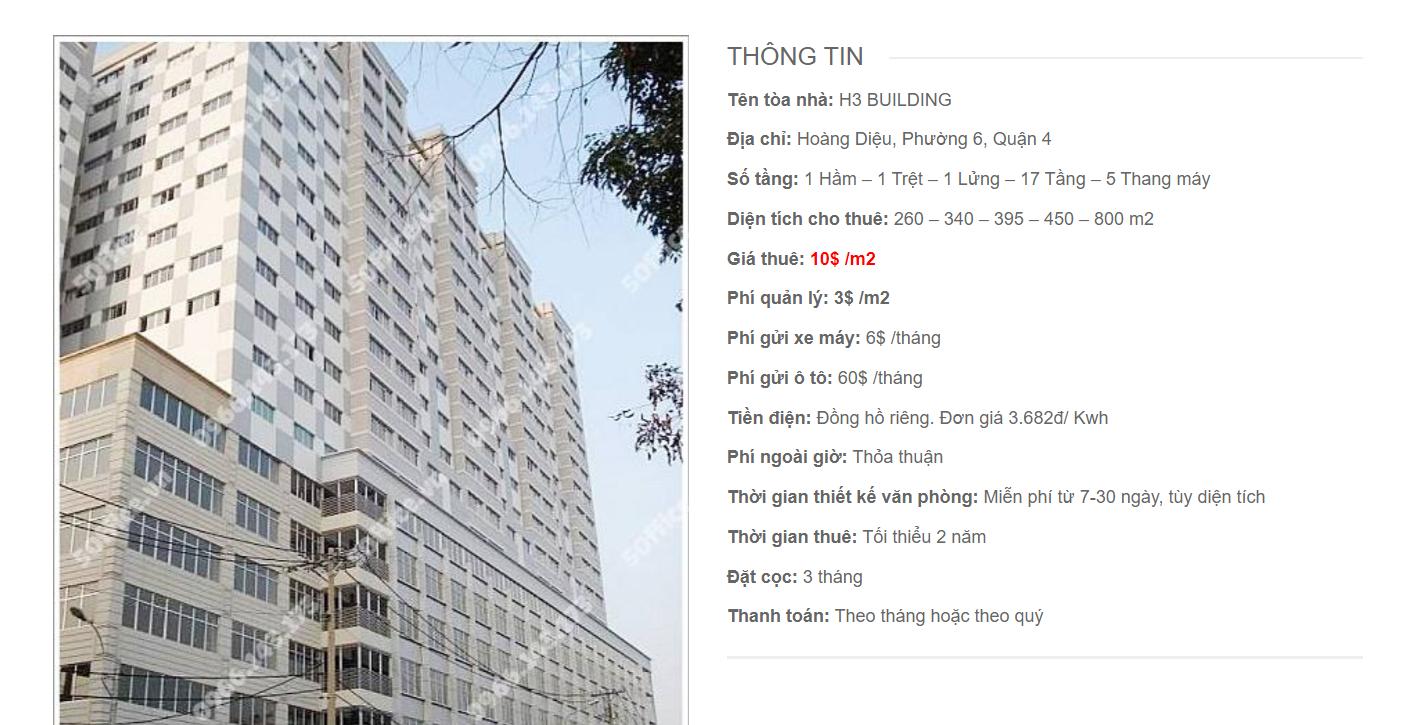 Danh sách công ty thuê văn phòng tại H2 Building Hoàng Diệu, Quận 4