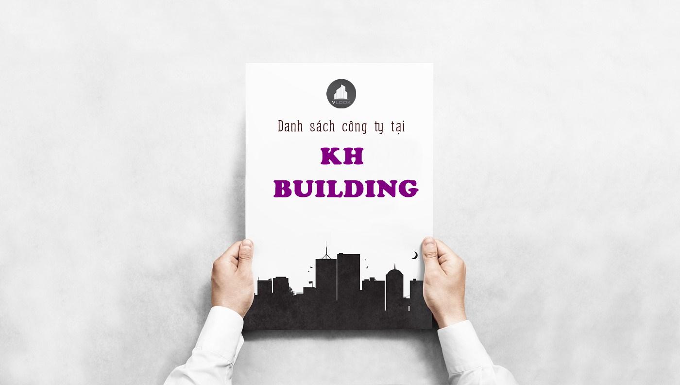 Danh sách công ty thuê văn phòng tại KH Building Khánh Hội, Quận 4