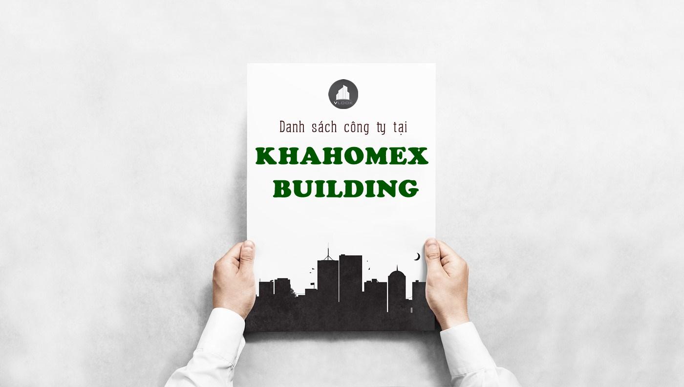 Danh sách công ty thuê văn phòng tại Khahomex Building Bến Vân Đồn, Quận 4