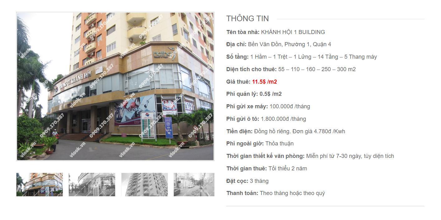 Danh sách công ty thuê văn phòng tại Khánh Hội 1 Building, Bến Vân Đồn, Quận 4