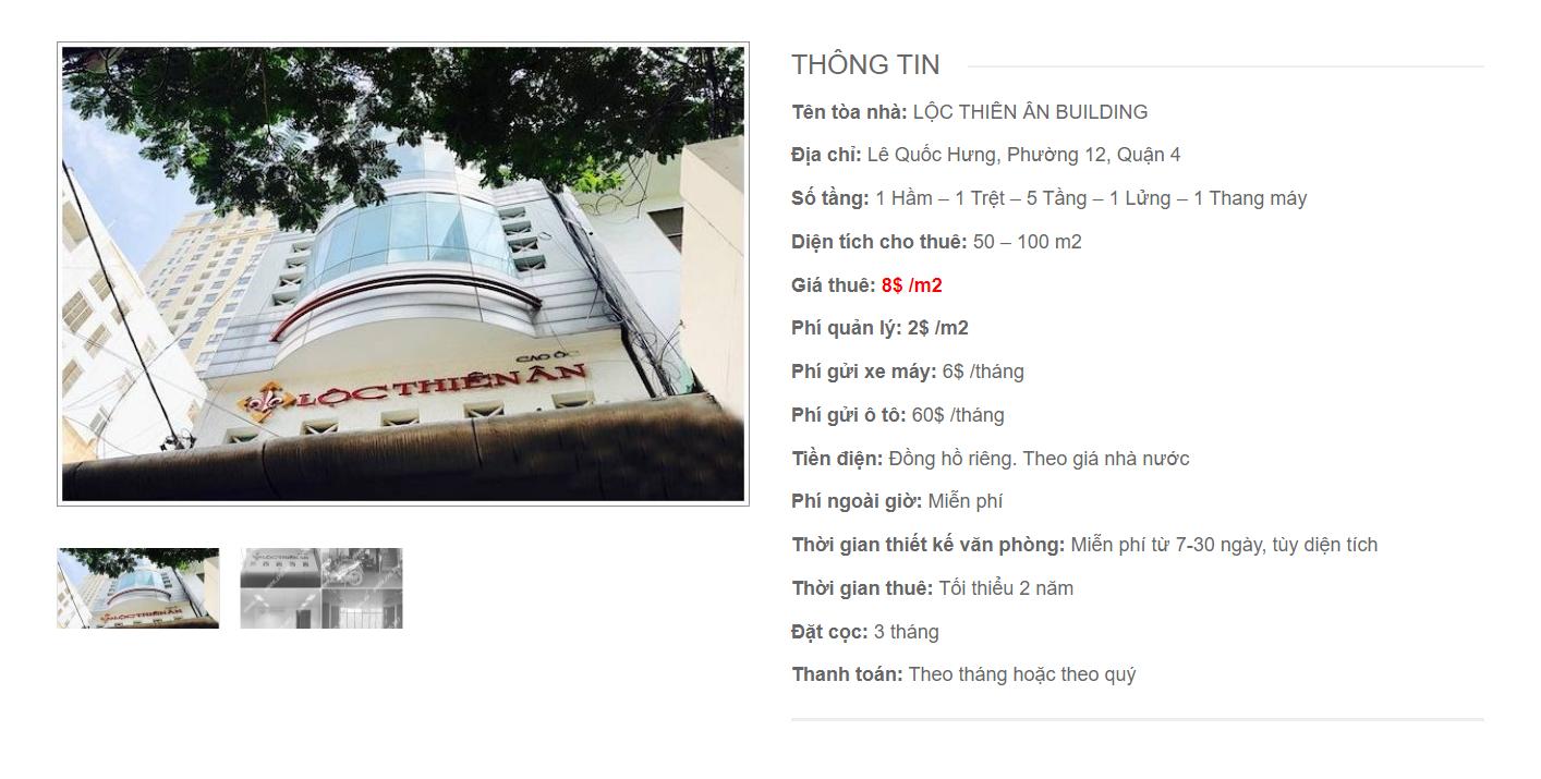 Danh sách công ty thuê văn phòng tại Lộc Thiên Ân Lê Quốc Hưng, Quận 4