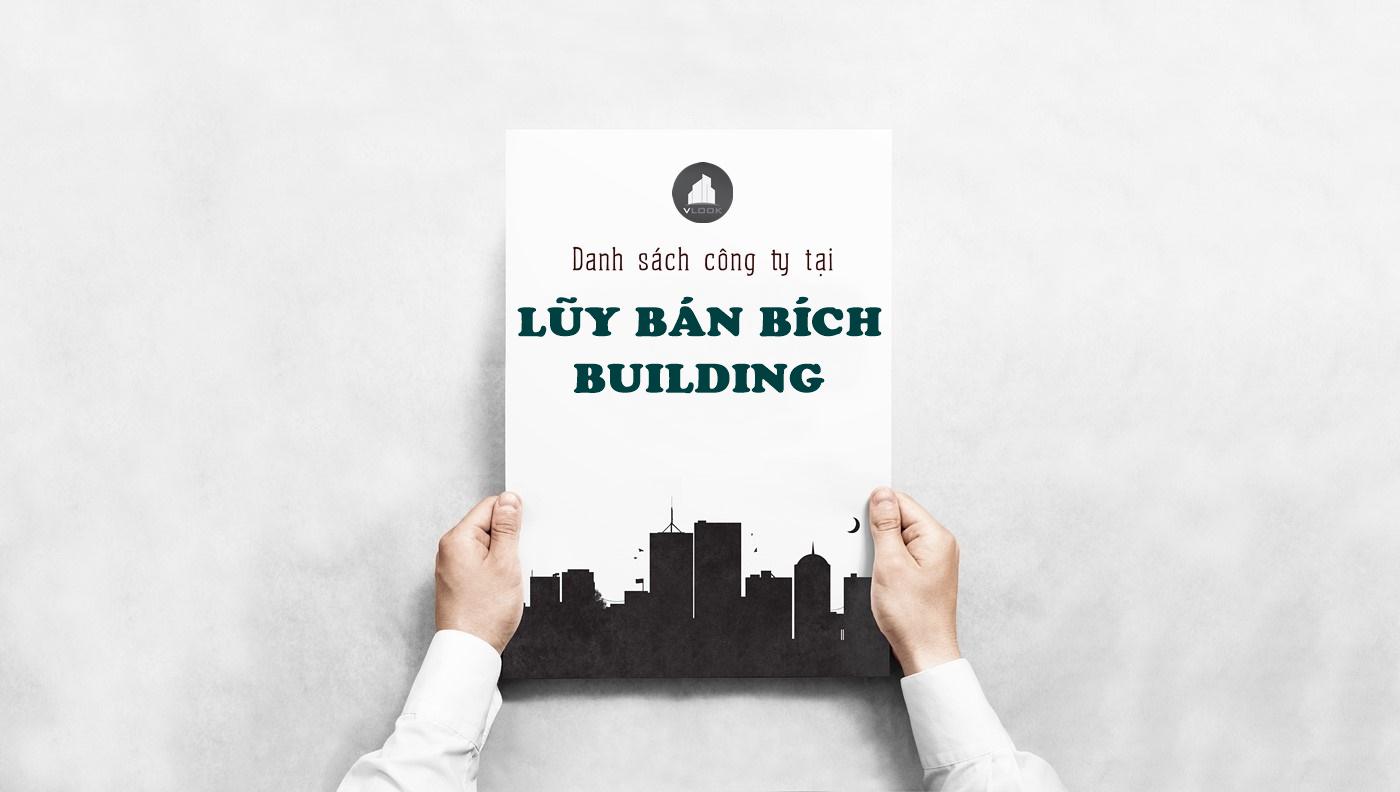 Danh sách công ty tại tòa nhà Lòy Bán Bích Building Quận Tân Phú - vlook.vn