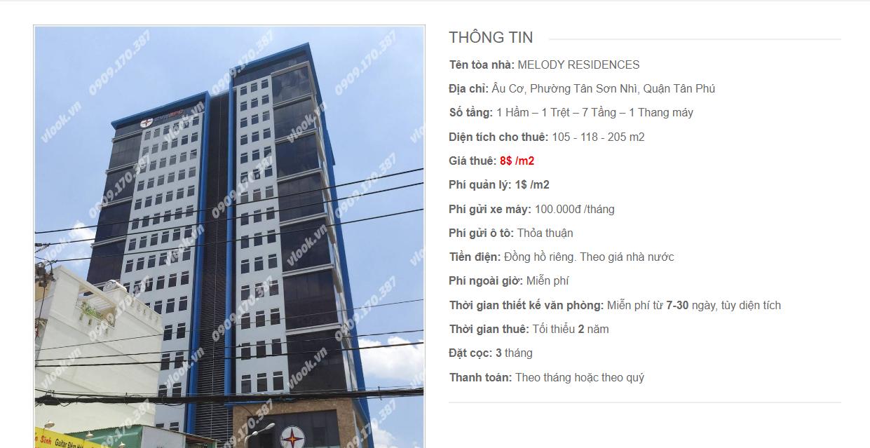 Danh sách công ty tại tòa nhà Melody Residences, Âu Cơ, Quận Tân Phú - vlook.vn