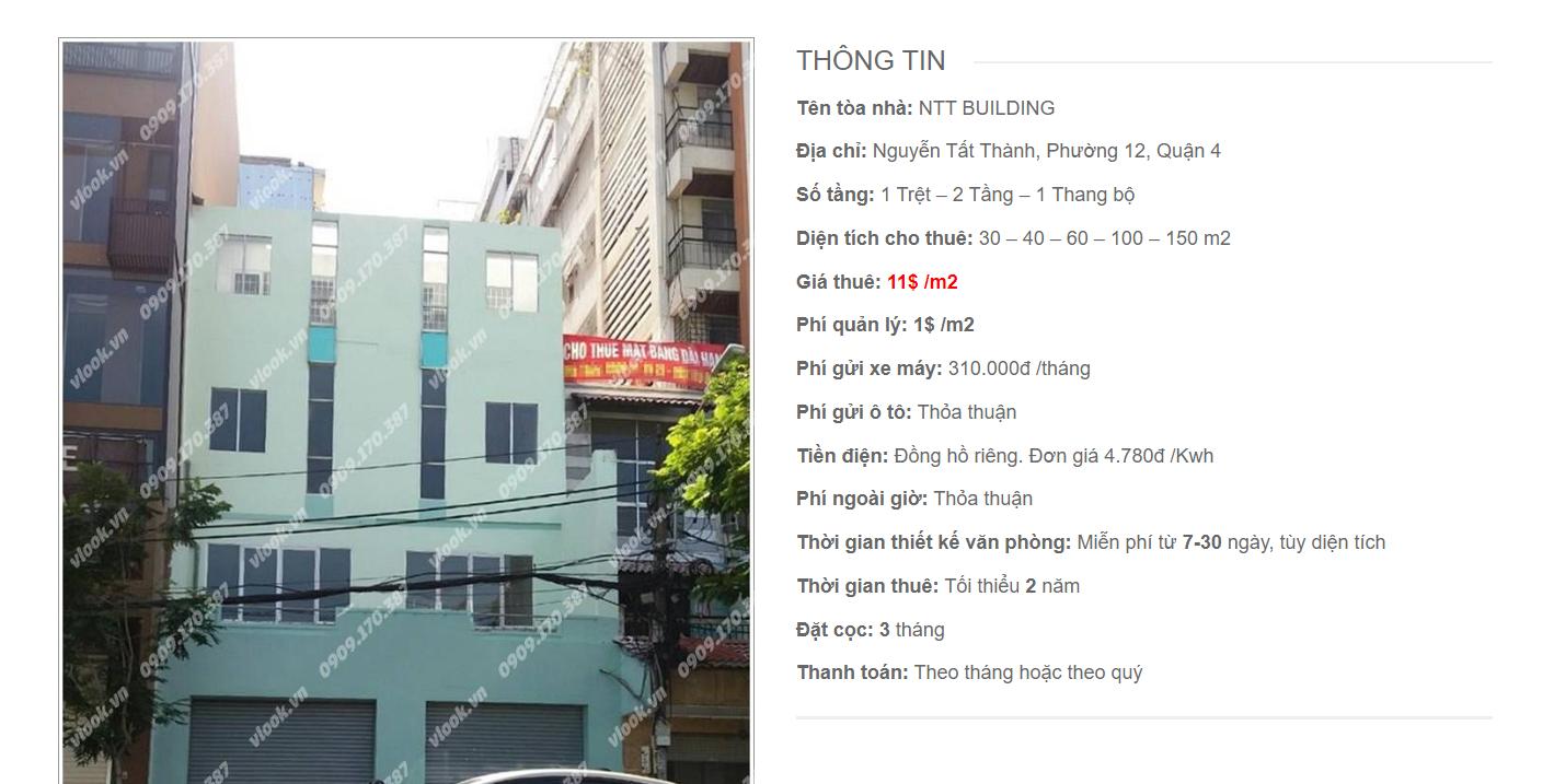 Danh sách công ty thuê văn phòng tại NTT Building, Nguyễn Tất Thành Building, Quận 4
