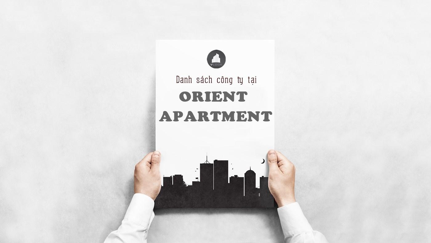 Danh sách công ty tại tòa nhà Orient Apartment, Bến Vân Đồn, Quận 4