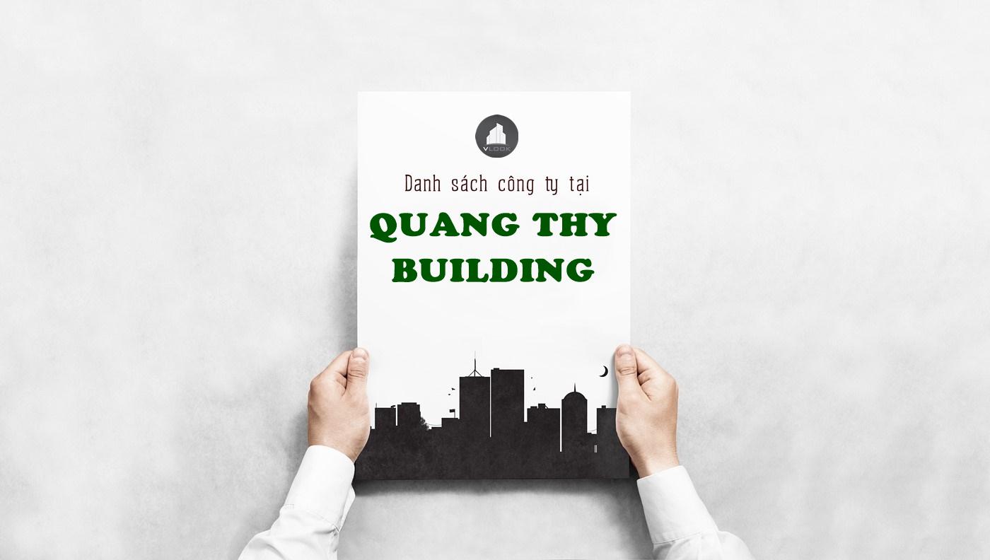 Danh sách công ty tại tòa nhà Quang Thy Building, Hoàng Diệu, Quận 4