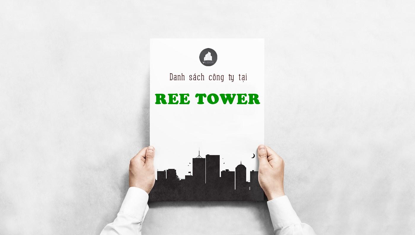 Danh sách công ty tại tòa nhà Ree Tower, Đoàn Văn Bơ, Quận 4