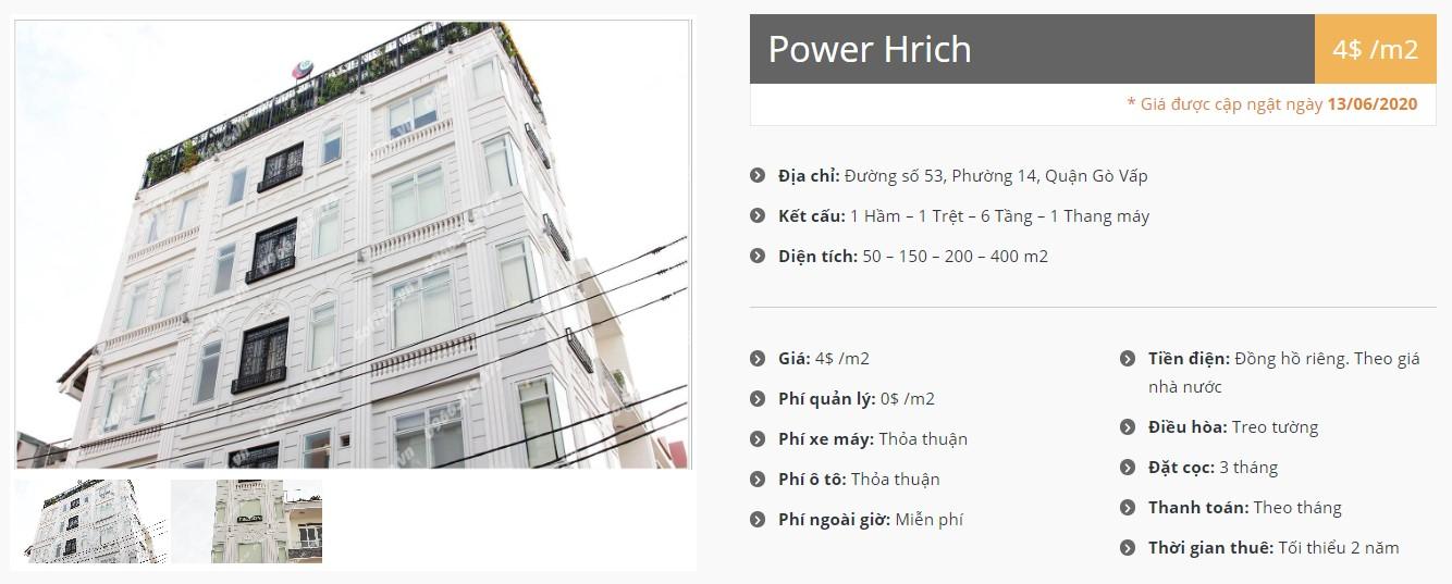 Danh sách công ty thuê văn phòng tại Power Hrich, Quận Gò Vấp - vlook.vn