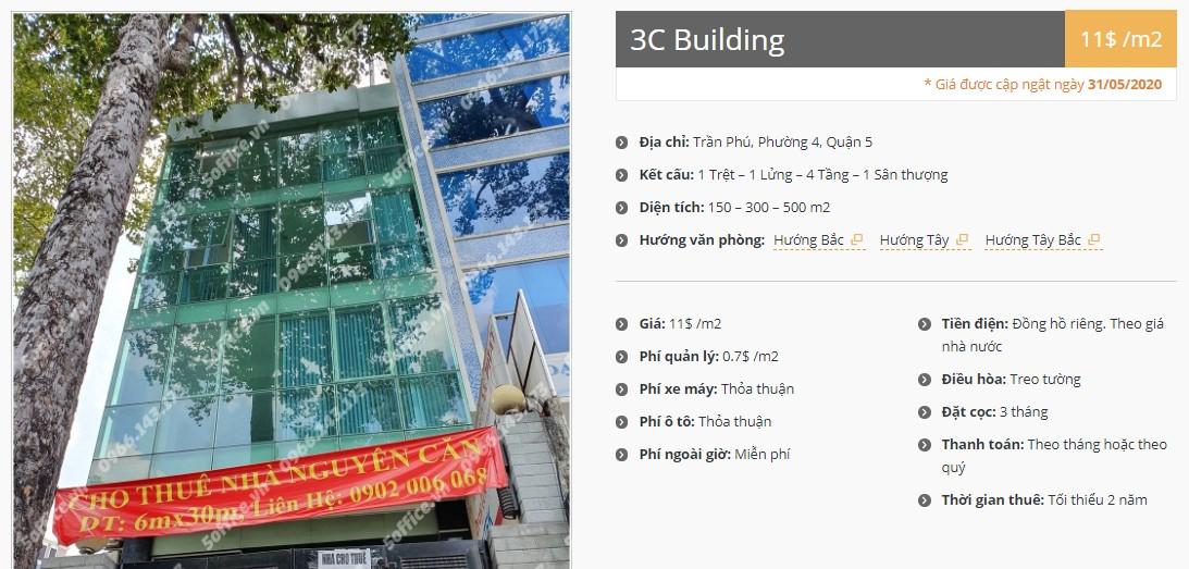 Danh sách công ty thuê văn phòng tại 3C Building, Quận 5