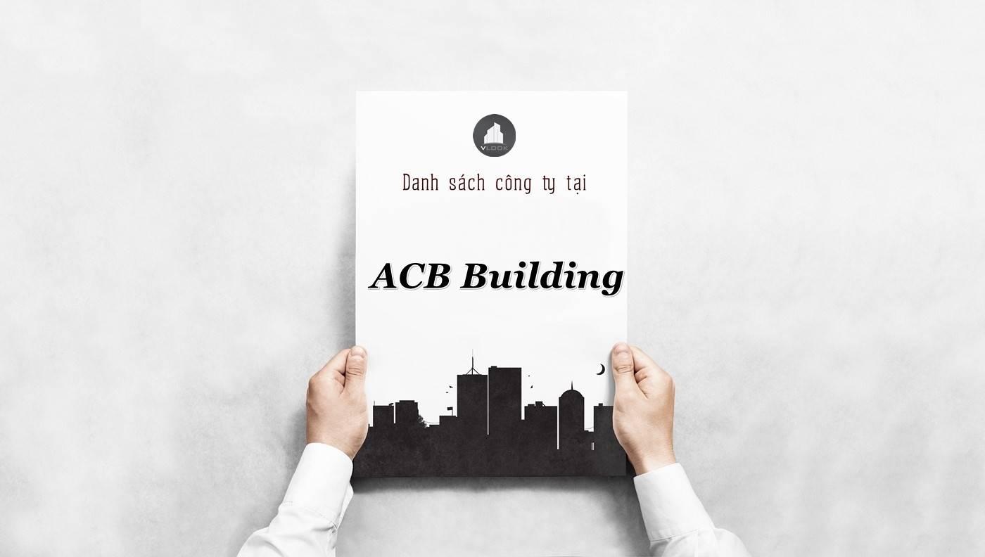 Danh sách công ty tại tòa nhà ACB Building, Quận 3