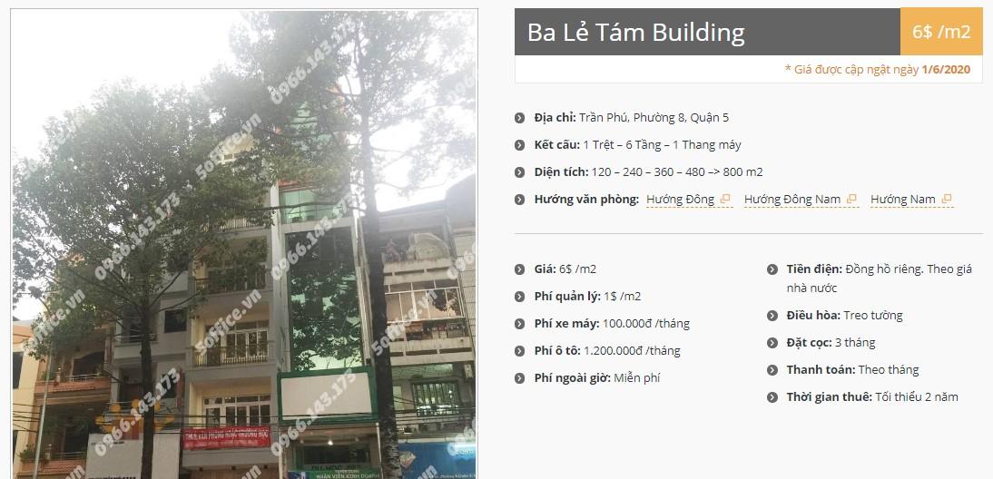 Danh sách công ty thuê văn phòng tại Ba Lẻ Tám Building, Quận 5