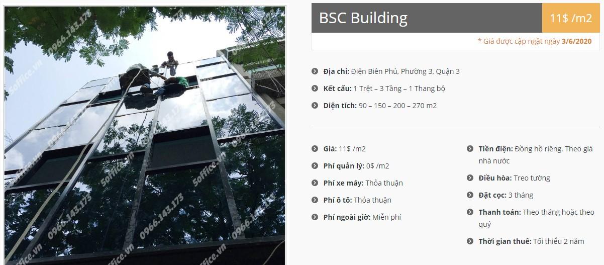 Danh sách công ty tại tòa nhà BSC Building, Quận 3
