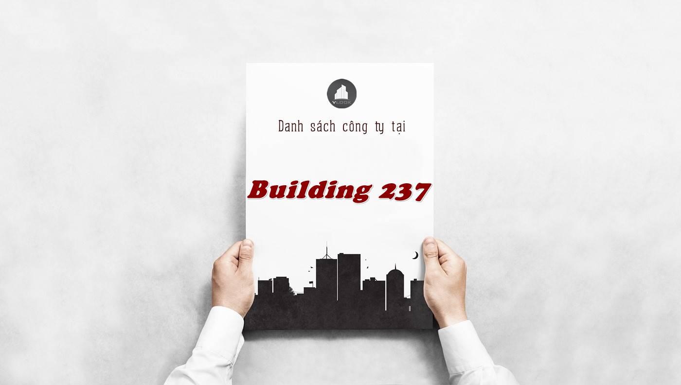 Danh sách công ty tại tòa nhà Building 237, Quận 5