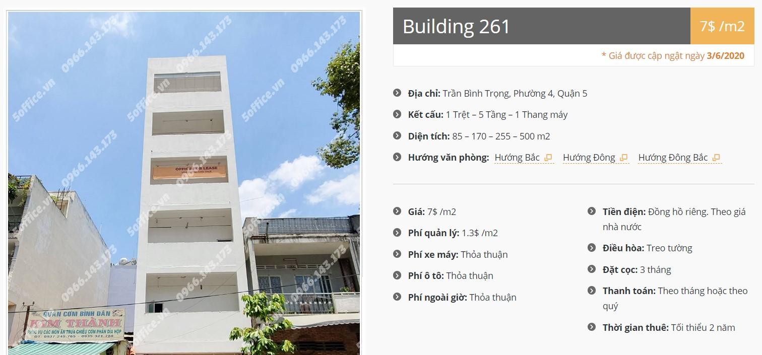 Danh sách công ty tại tòa nhà Building 261, Quận 5