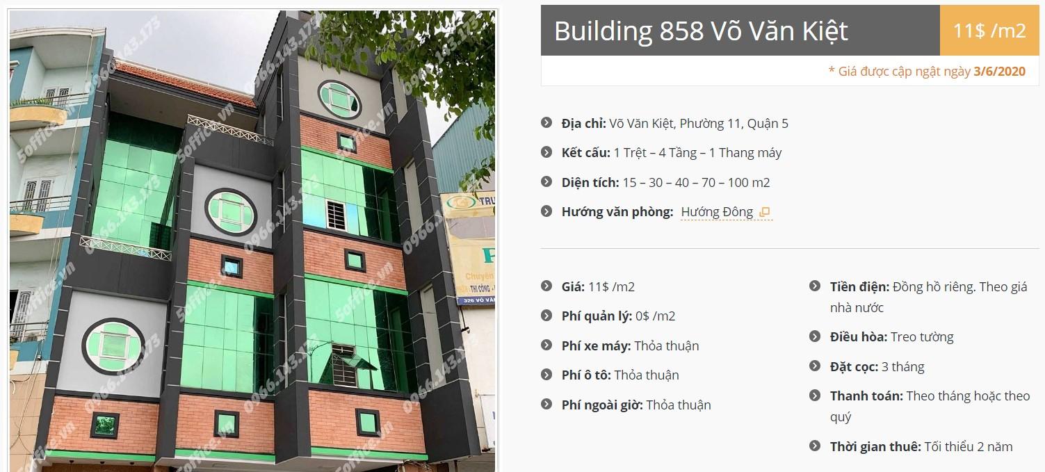 Danh sách công ty tại tòa nhà Building 858 Võ Văn Kiệt, Quận 5