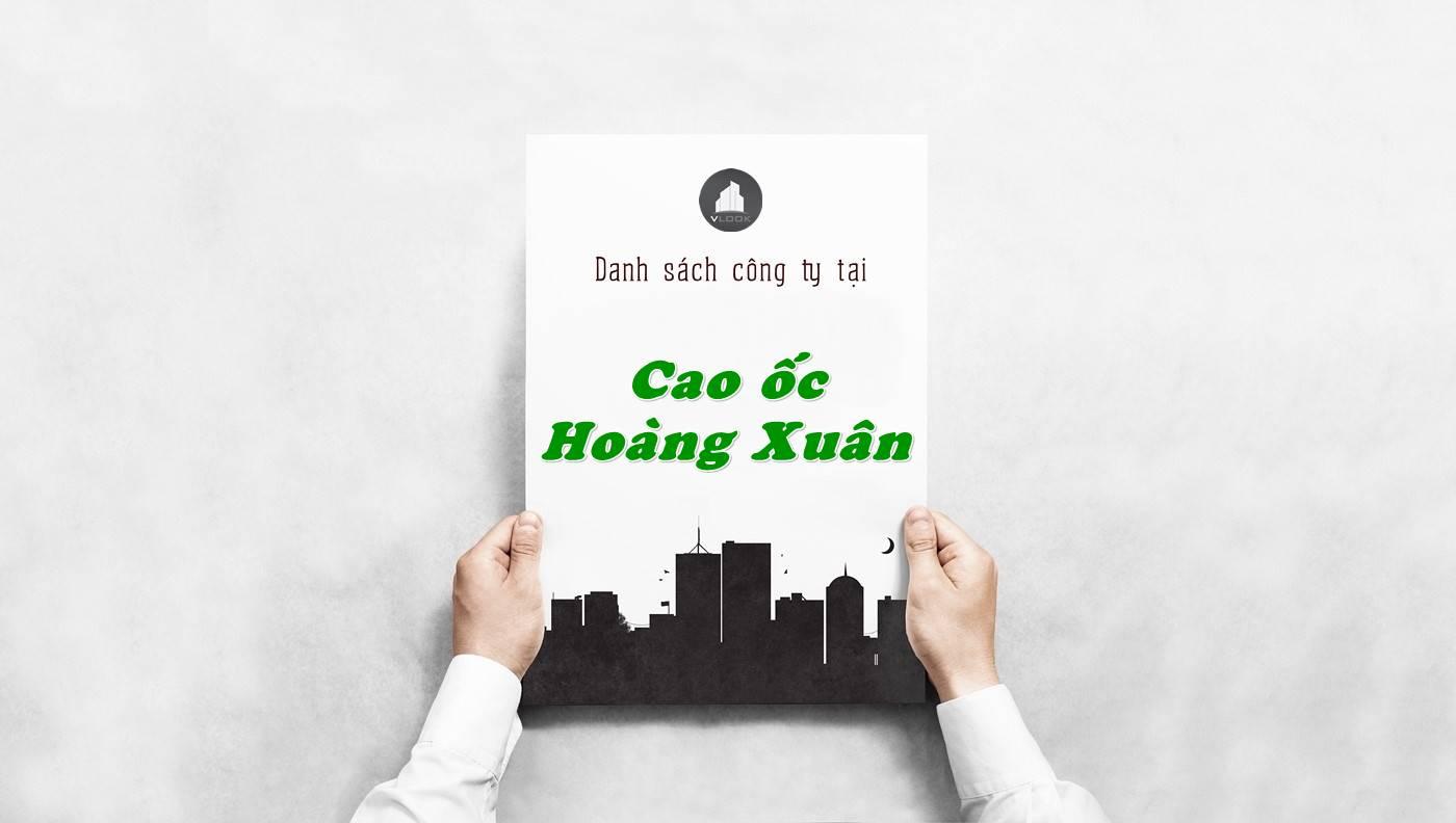 Danh sách công ty tại tòa nhà Cao ốc Hoàng Xuân, Quận 5