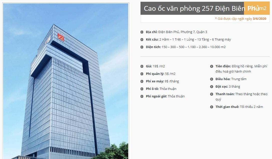 Danh sách công ty tại Cao ốc văn phòng 257 Điện Biên Phủ, Quận 3