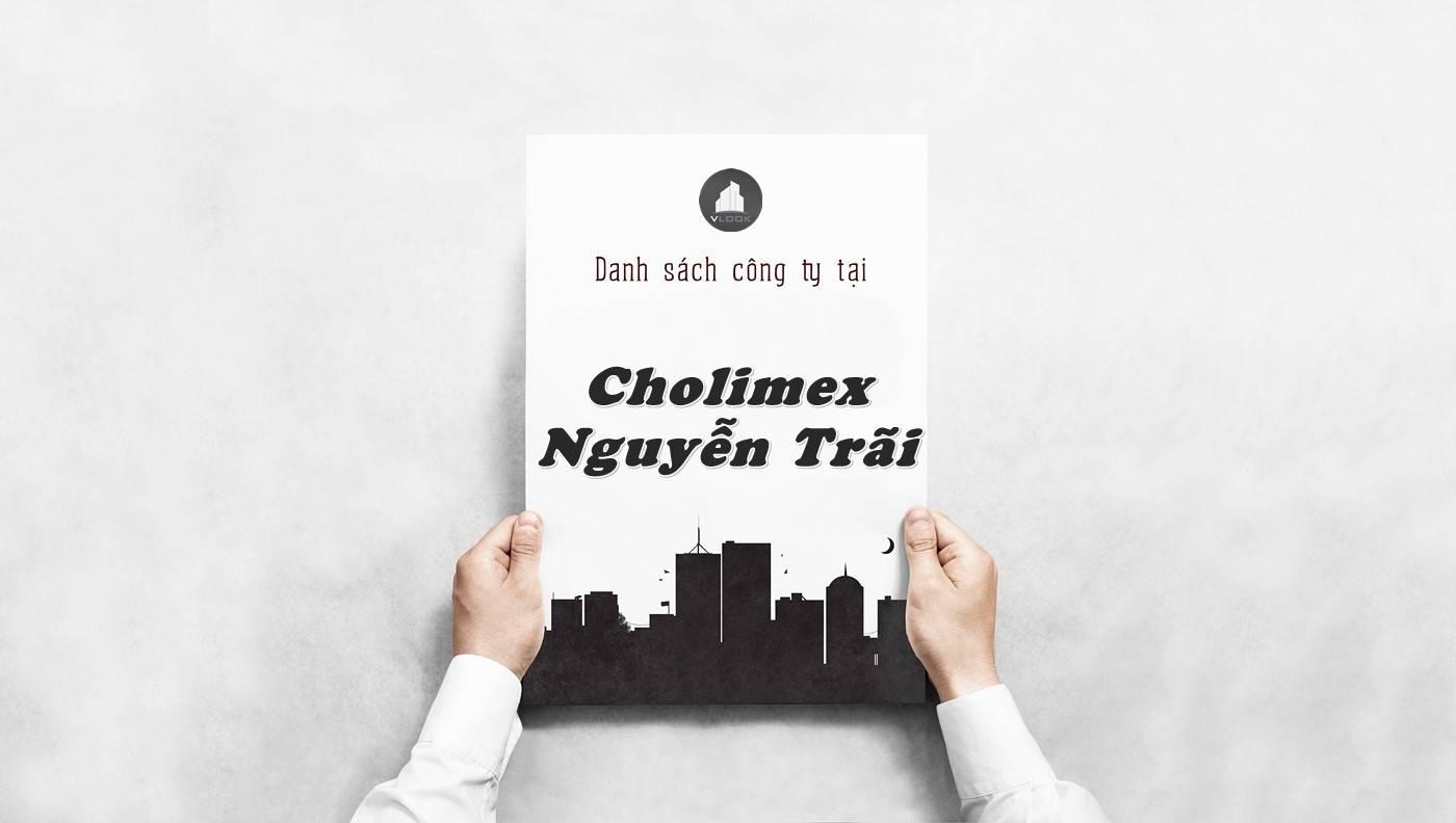 Danh sách công ty tại tòa nhà Cholimex Nguyễn Trãi, Quận 5