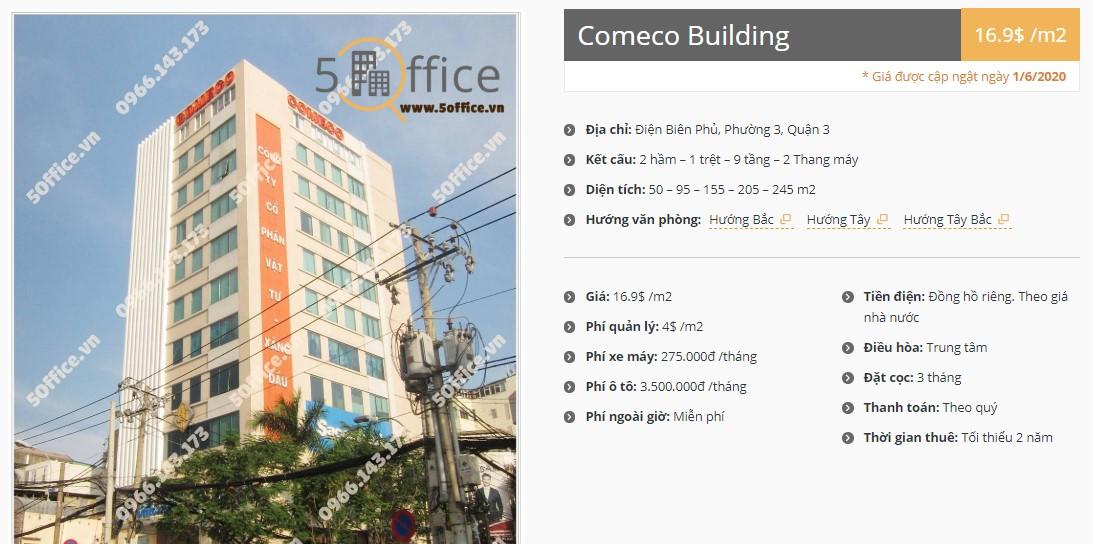 Danh sách công ty tại tòa nhà Comeco Tower, Quận 3