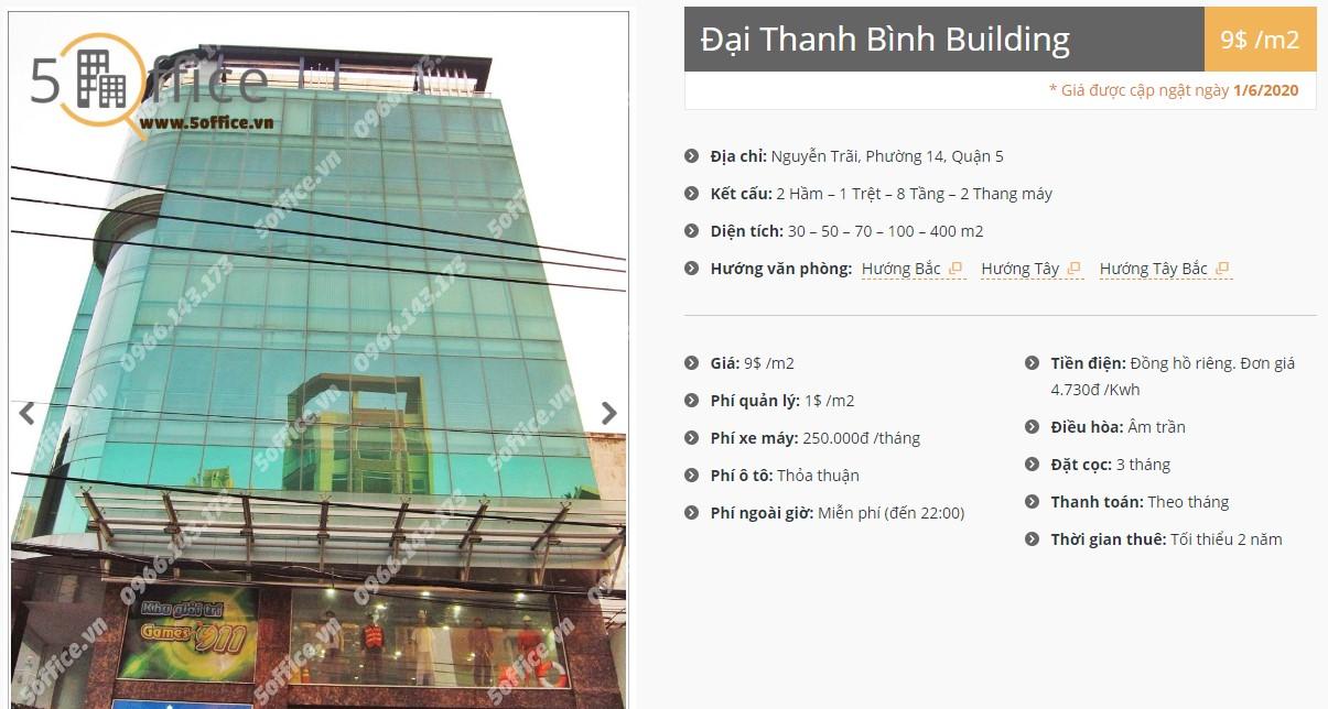 Danh sách công ty tại tòa nhà Đại Thanh Bình Building, Quận 5