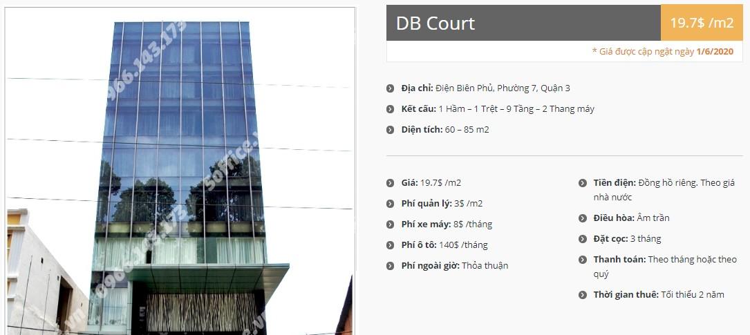 Danh sách công ty tại tòa nhà DB Court, Quận 3