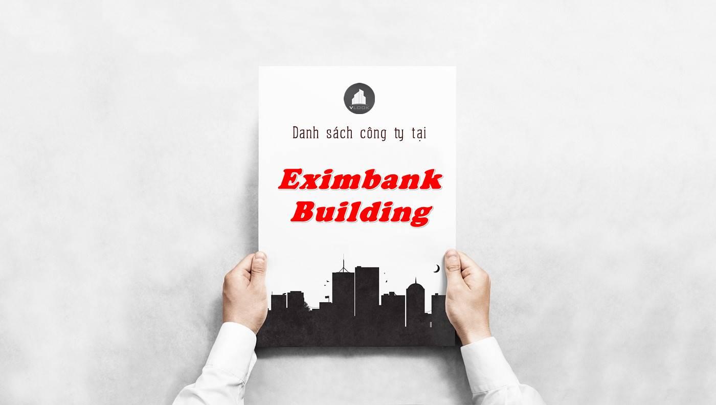 Danh sách công ty tại tòa nhà Eximbank Building, Quận 3