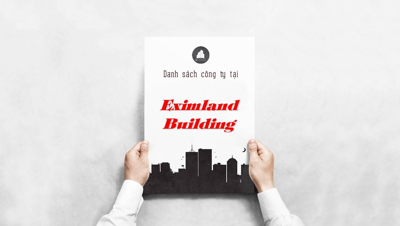 Danh sách công ty tại tòa nhà Eximland Building, Quận 3