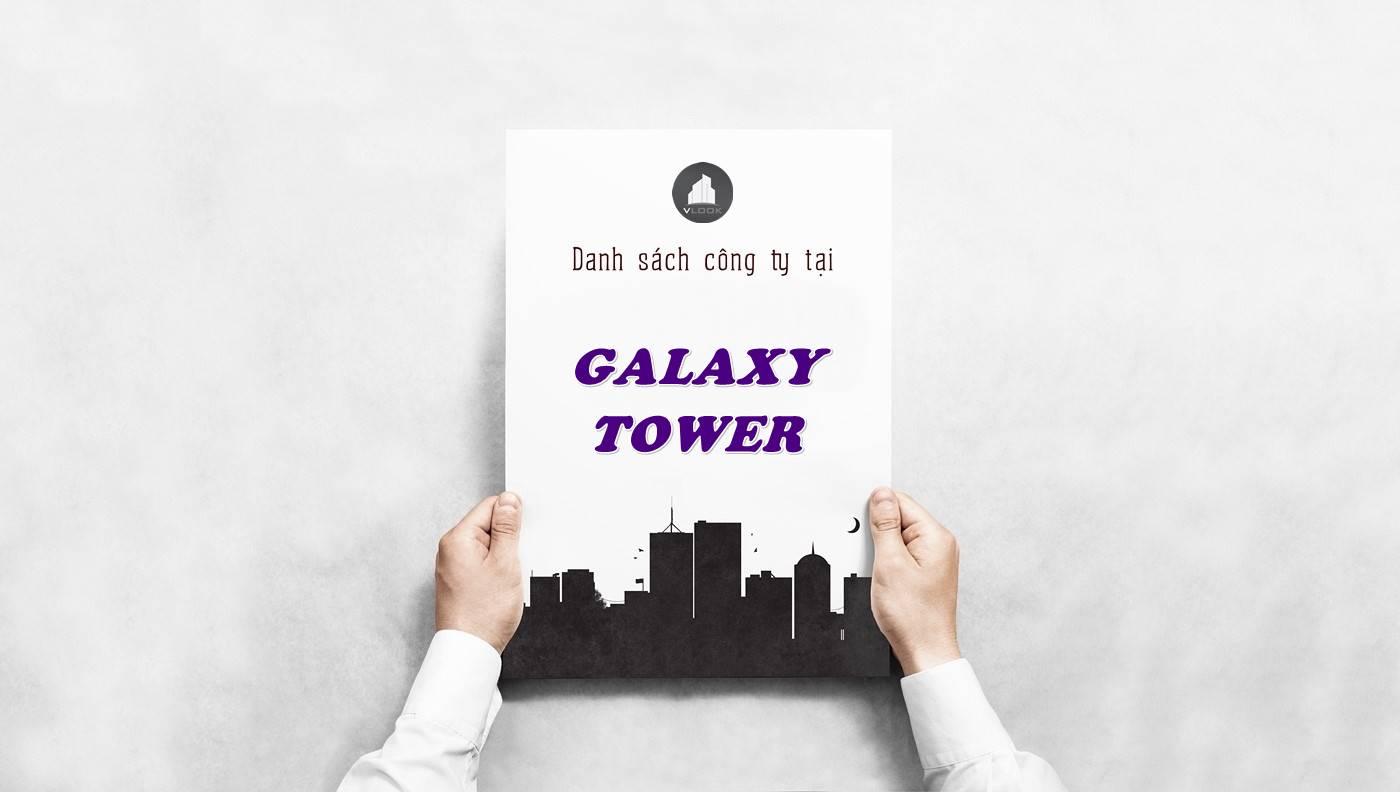 Danh sách công ty thuê văn phòng tại Galaxy Tower, Quận 5