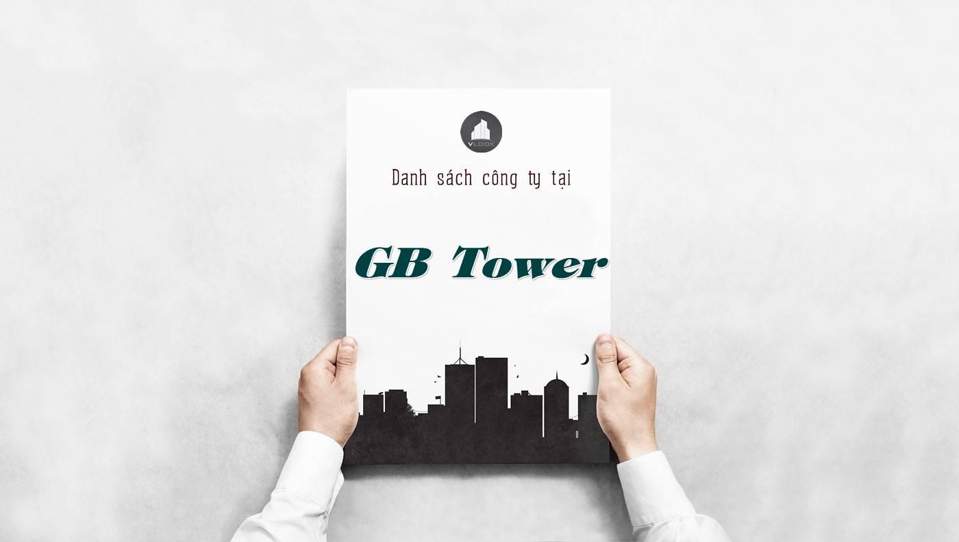 Danh sách công ty tại tòa nhà GB Tower, Quận 3