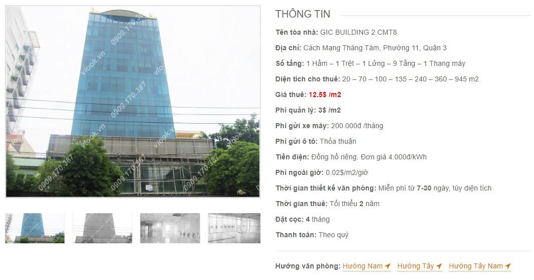 Danh sách công ty tại tòa nhà GIC Building 2 CMT8, Quận 3