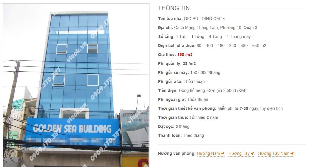 Danh sách công ty tại tòa nhà GIC Building CMT8, Quận 3