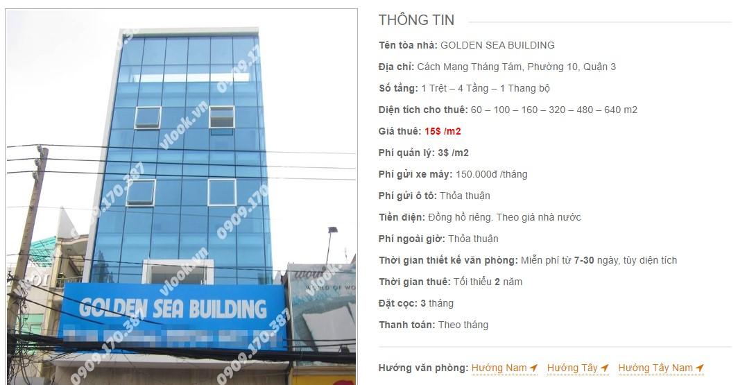 Danh sách công ty tại tòa nhà Golden Sea Building, Quận 3