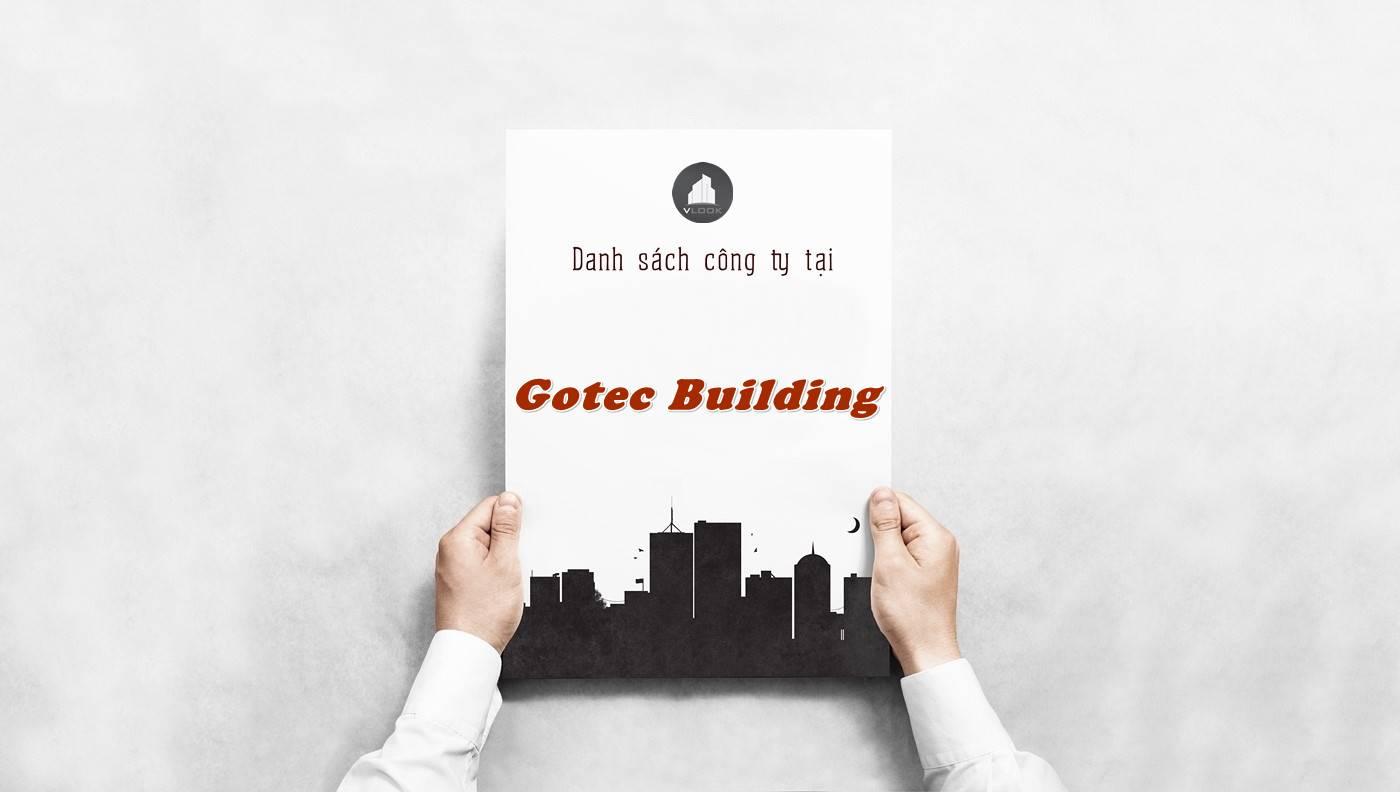 Danh sách công ty tại tòa nhà Gotec Building, Quận 5