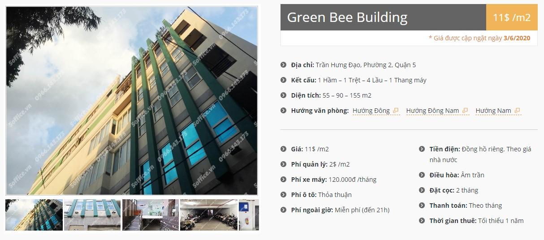 Danh sách công ty thuê văn phòng tại Green Bee Building, Quận 5