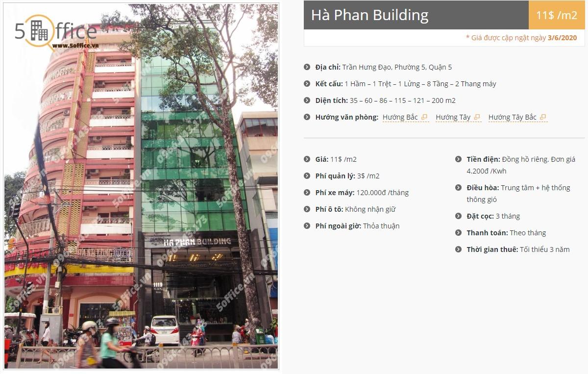 Danh sách công ty thuê văn phòng tại Hà Phan Building, Quận 5