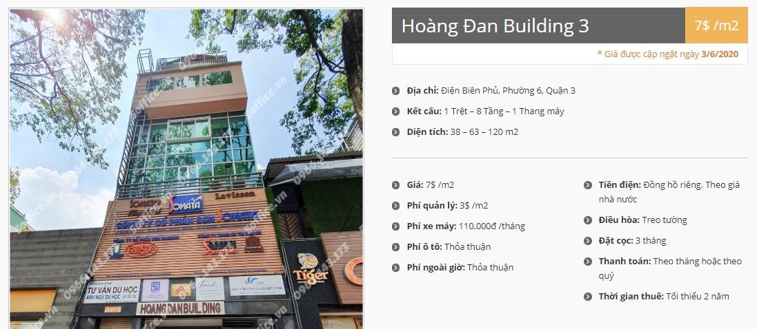 Danh sách công ty tại tòa nhà Hoàng Đan Building 3, Quận 3