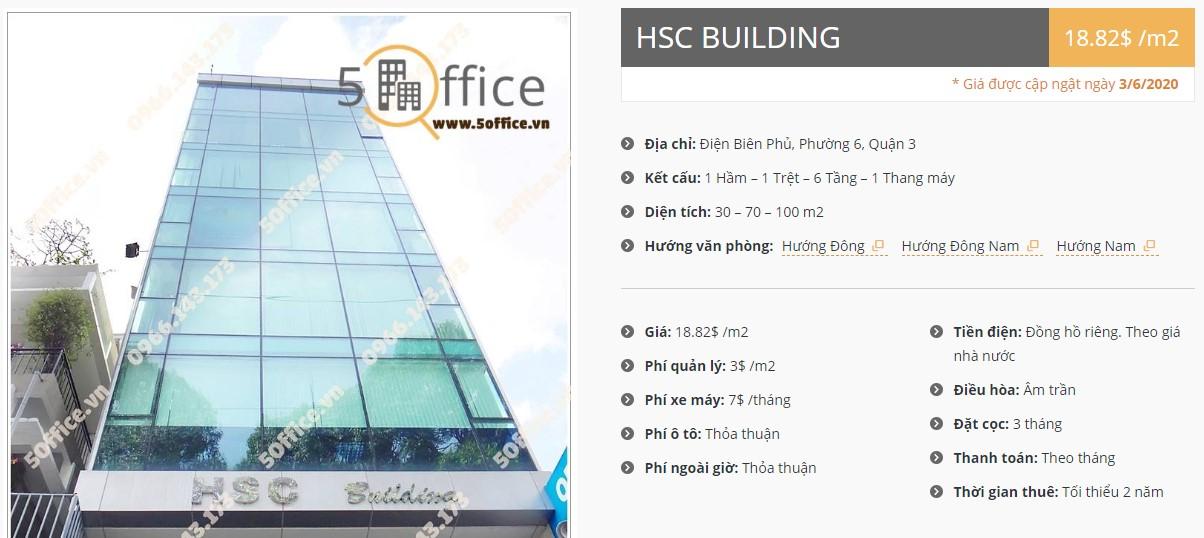 Danh sách công ty tại tòa nhà HSC Building, Quận 3