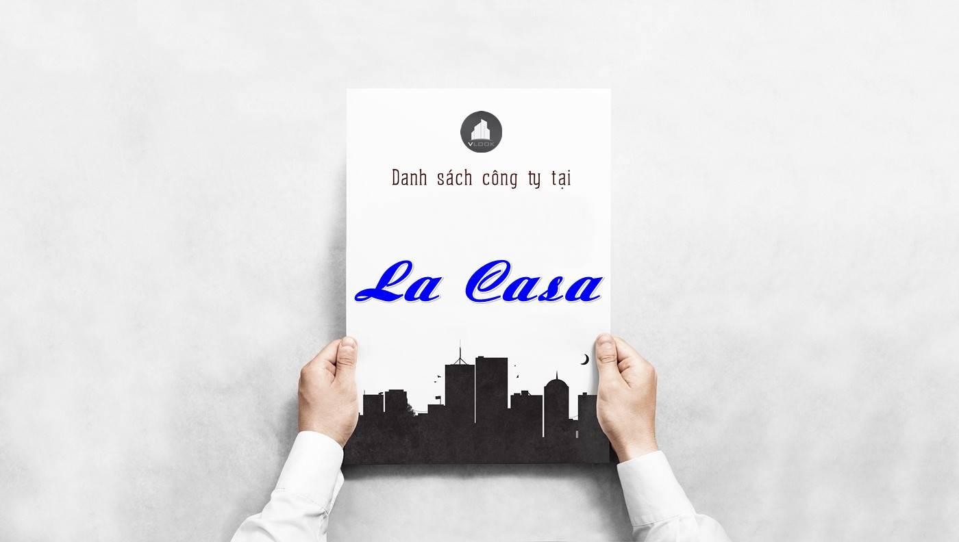 Danh sách công ty thuê văn phòng tại La Casa, Quận 7