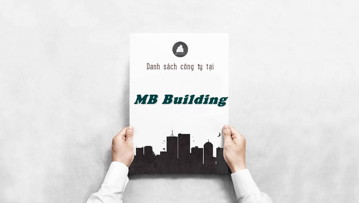 Danh sách công ty tại tòa nhà MB Building, Quận 3