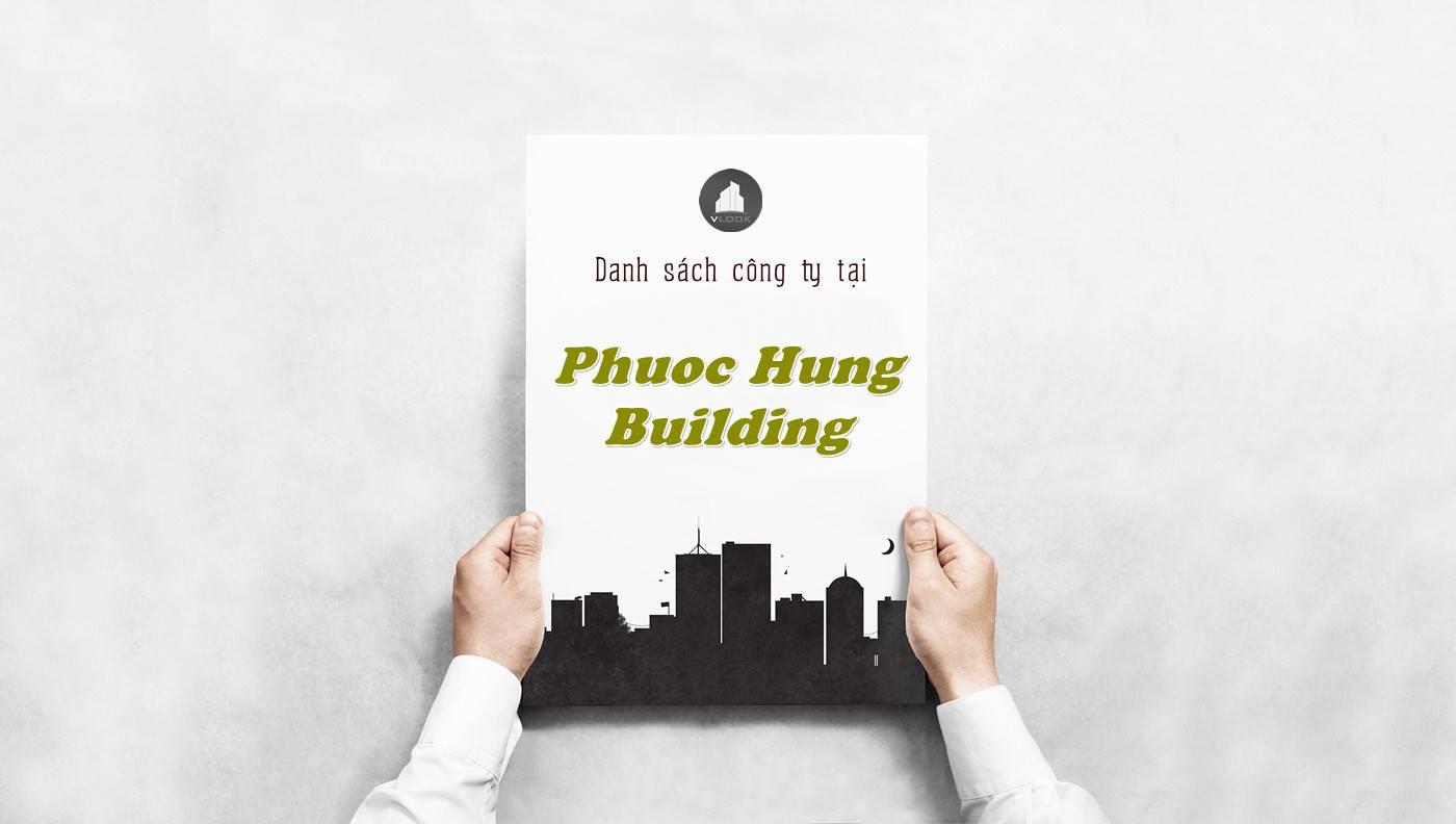 Danh sách công ty thuê văn phòng tại Phước Hưng Building, Quận 5