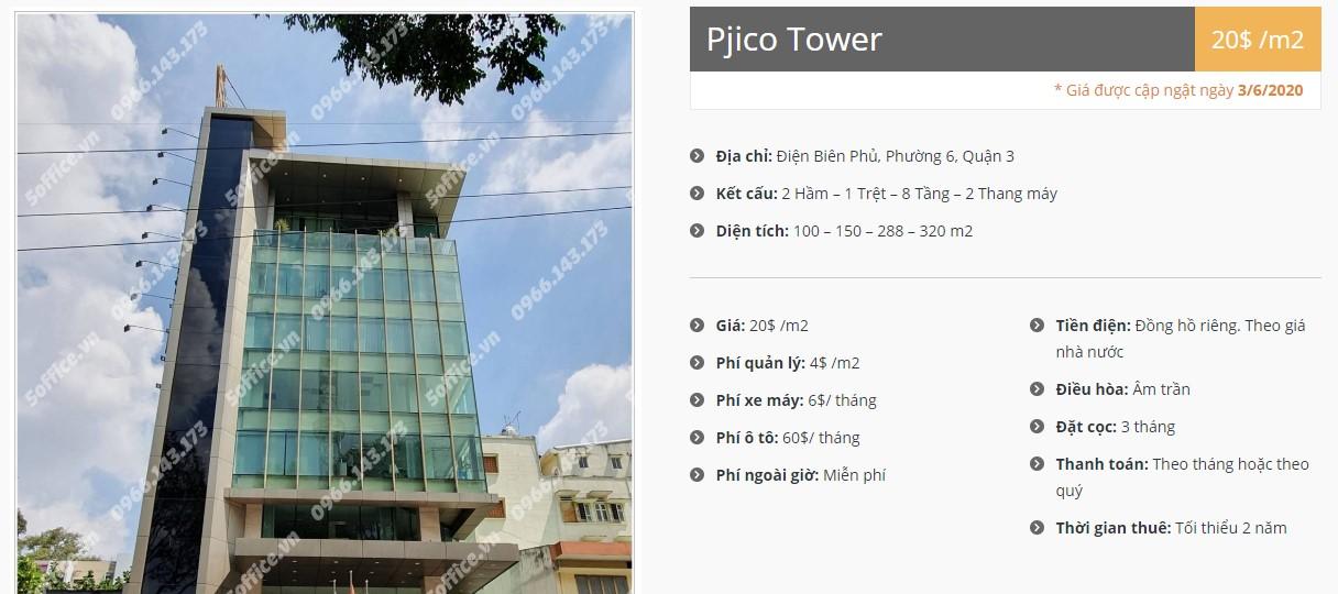 Danh sách công ty tại tòa nhà Pjico Building, Quận 3