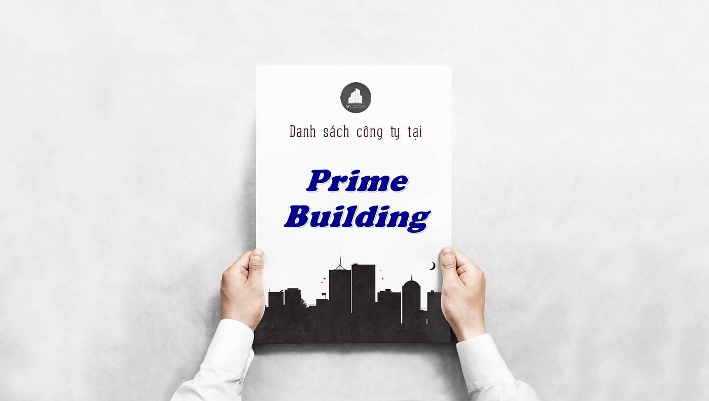 Danh sách công ty thuê văn phòng tại Prime Building, Quận 5