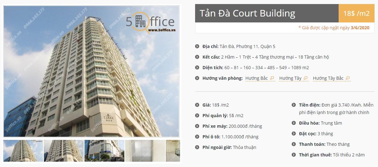 Danh sách công ty thuê văn phòng tại Tản Đà Building, Quận 5