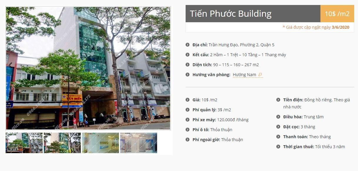 Danh sách công ty thuê văn phòng tại Tiến Phước Building, Quận 5