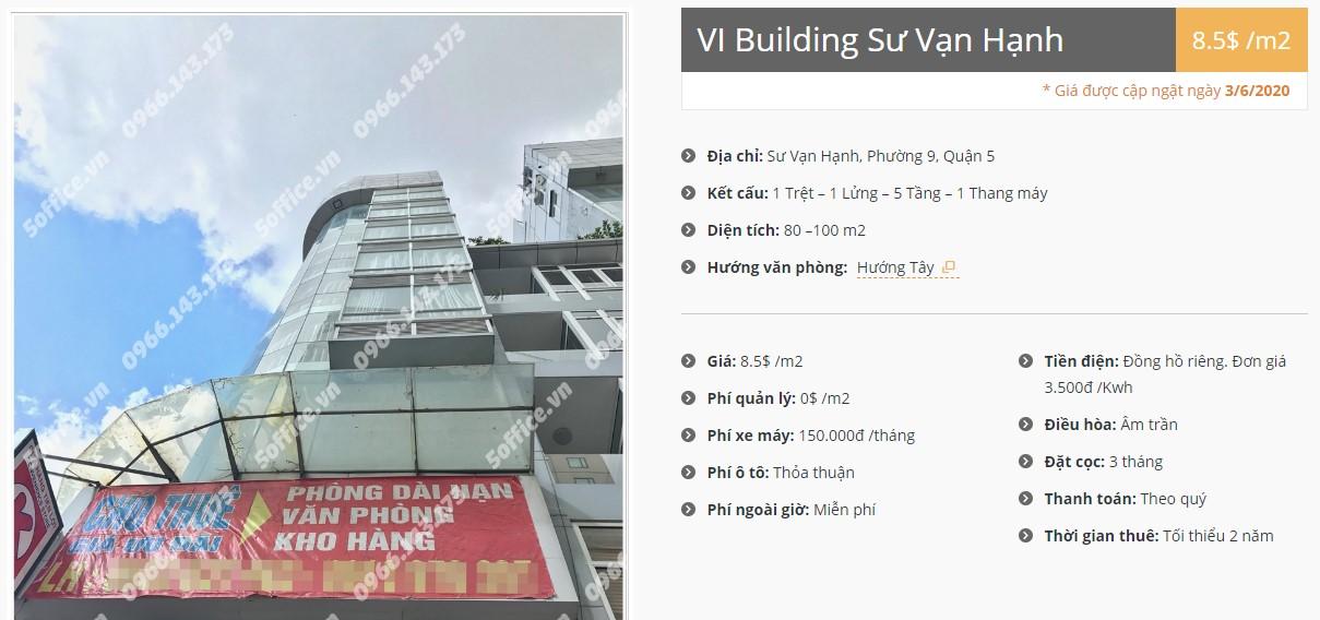 Danh sách công ty thuê văn phòng tại VI Building Sư Vạn Hạnh, Quận 5